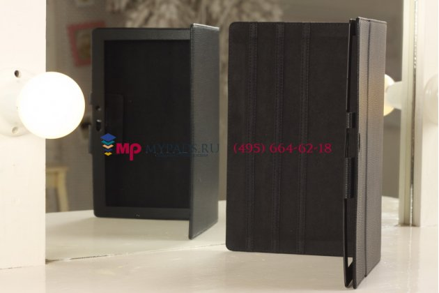 Фирменный чехол для Microsoft Surface черный кожаный