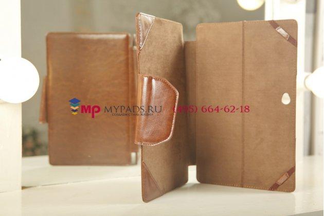 Фирменный чехол для Microsost Surface/Surface Pro коричневый с секцией под клавиатуру кожаный
