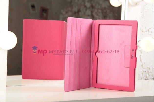 Фирменный чехол-обложка для Microsoft Surface/Surface Pro розовый кожаный