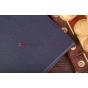 Фирменный чехол-обложка для Microsoft Surface/Surface Pro синий кожаный