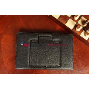Фирменный оригинальный чехол со съёмной клавиатурой с тачпадом для Microsoft Surface RT/Surface Pro/Surface Pro 2 черный кожаный + гарантия