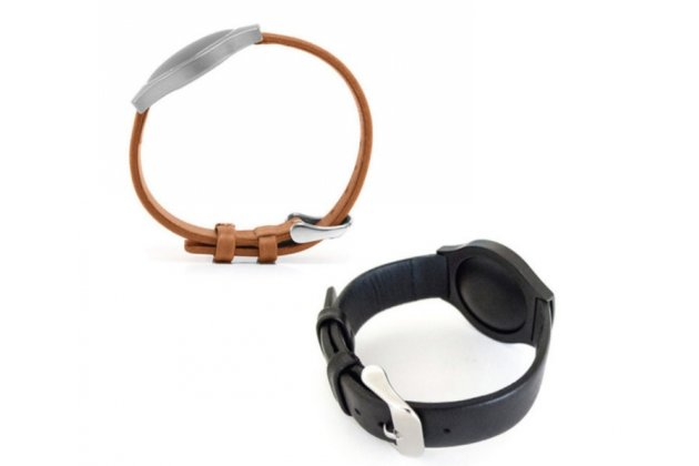 Фирменный сменный кожаный ремешок для умных смарт-часов Misfit Shine из качественной импортной кожи