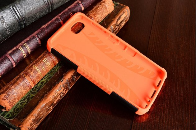 """Противоударный усиленный ударопрочный фирменный чехол-бампер-пенал для Lenovo Zuk Z2/ZUK Z2 Rio Edition 5.0"""" оранжевый"""