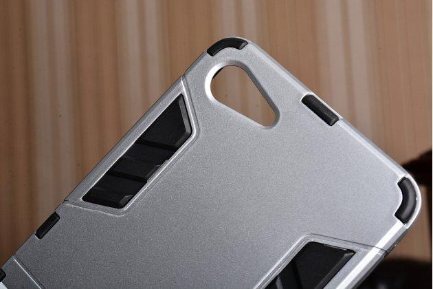 """Противоударный усиленный ударопрочный фирменный чехол-бампер-пенал для Lenovo Zuk Z2/ZUK Z2 Rio Edition 5.0"""" серебристый"""