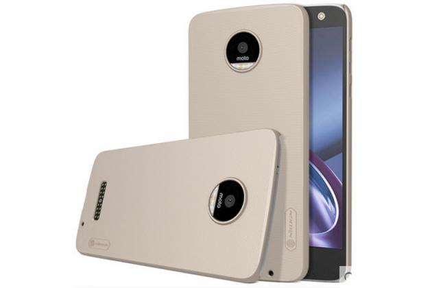 """Фирменная задняя панель-крышка-накладка из тончайшего и прочного пластика для  Motorola (Lenovo) Moto Z 5.5"""" (XT1650-05)  золотая"""