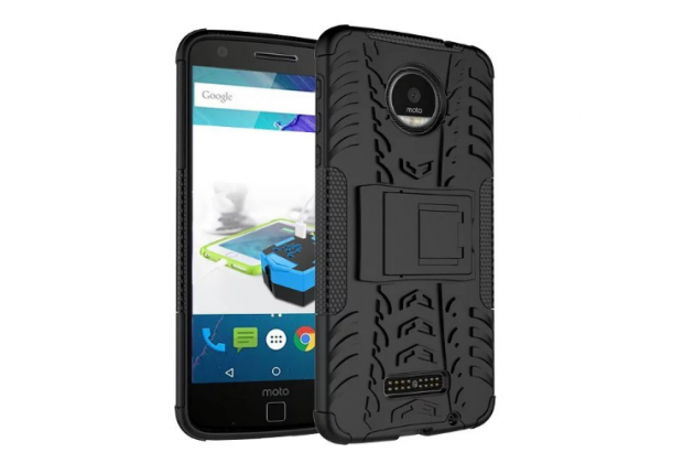 """Противоударный усиленный ударопрочный фирменный чехол-бампер-пенал для Motorola (Lenovo) Moto Z 5.5"""" (XT1650-05) черный"""