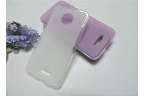 """Фирменная ультра-тонкая силиконовая задняя панель-чехол-накладка для Motorola (Lenovo) Moto Z Force 5.5"""" белая"""