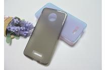 """Фирменная ультра-тонкая силиконовая задняя панель-чехол-накладка для Motorola (Lenovo) Moto Z Force 5.5"""" серая"""