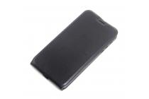 """Фирменный оригинальный вертикальный откидной чехол-флип для Motorola (Lenovo) Moto Z Force 5.5""""  черный кожаный"""