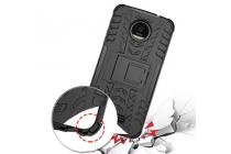 """Противоударный усиленный ударопрочный фирменный чехол-бампер-пенал для Motorola (Lenovo) Moto Z Force 5.5"""" черный"""