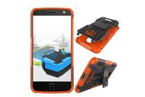 """Противоударный усиленный ударопрочный фирменный чехол-бампер-пенал для Motorola (Lenovo) Moto Z Force 5.5"""" оранжевый"""