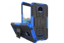 """Противоударный усиленный ударопрочный фирменный чехол-бампер-пенал для Motorola (Lenovo) Moto Z Force 5.5"""" синий"""