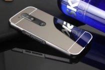 Фирменная металлическая задняя панель-крышка-накладка из тончайшего облегченного авиационного алюминия для Motorola Moto G4 Plus (XT1642) 5.5 черная
