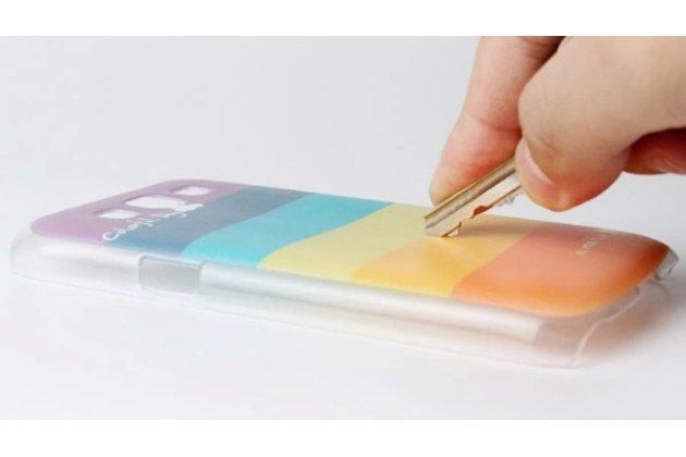 """Фирменная необычная уникальная пластиковая задняя панель-чехол-накладка для Motorola Moto G4 Plus (XT1642) 5.5 """"тематика Радуга"""""""