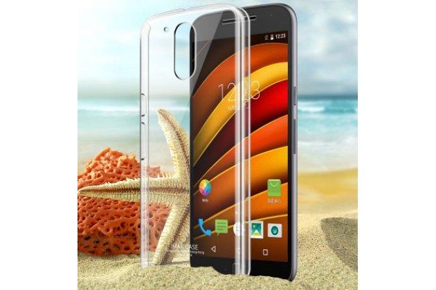 Фирменная ультра-тонкая прочная пластиковая задняя панель-чехол-накладка для Motorola Moto G4 Plus (XT1642) 5.5 прозрачная