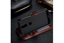 Фирменный чехол-книжка из качественной импортной кожи с мульти-подставкой застёжкой и визитницей для Motorola Moto G4 Plus (XT1642) 5.5 коричневый