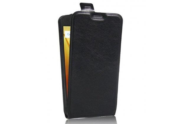 Фирменный вертикальный откидной ультра-тонкий чехол-флип для Motorola Moto G4 Plus (XT1642) 5.5 черный