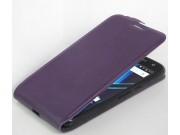Фирменный вертикальный откидной ультра-тонкий чехол-флип для Motorola Moto G4 Plus (XT1642) 5.5 фиолетовый ..