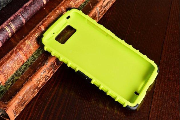 Противоударный усиленный ударопрочный фирменный чехол-бампер-пенал для Motorola Moto M (XT1662) 5.5 зеленый