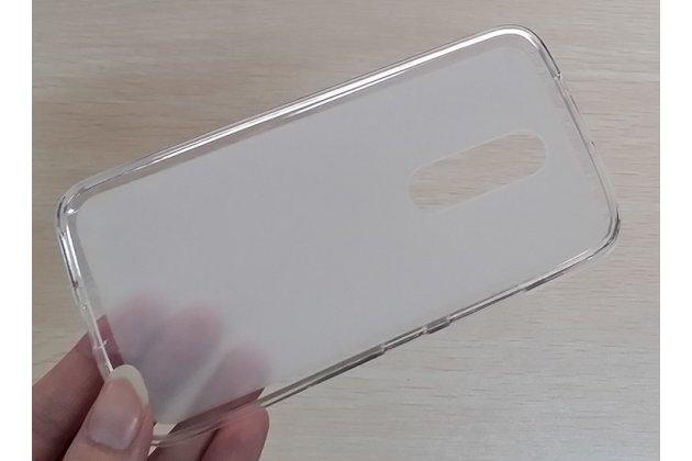 Фирменная ультра-тонкая полимерная из мягкого качественного силикона задняя панель-чехол-накладка для Motorola Moto M (XT1662) 5.5 белая матовая