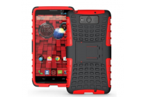 Противоударный усиленный ударопрочный фирменный чехол-бампер-пенал для Motorola Moto M (XT1662) 5.5 красный
