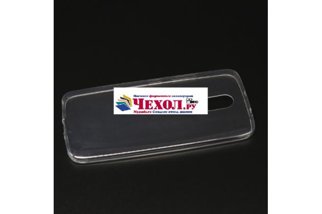 Фирменная ультра-тонкая полимерная из мягкого качественного силикона задняя панель-чехол-накладка для  Motorola Moto M (XT1662) 5.5 прозрачная