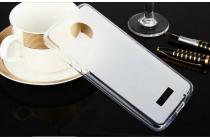 """Фирменная ультра-тонкая силиконовая задняя панель-чехол-накладка для Lenovo Moto Z Play/ Motorola Moto Х Play (XT1635-03) 5.5"""" белая"""