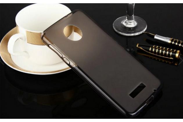 """Фирменная ультра-тонкая силиконовая задняя панель-чехол-накладка для Lenovo Moto Z Play/ Motorola Moto Х Play (XT1635-03) 5.5"""" черная"""