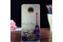"""Фирменная задняя панель-чехол-накладка из 3D силикона с объёмным рисунком для Lenovo Moto Z Play/ Motorola Moto Х Play (XT1635-03) 5.5"""" """"тематика Париж"""""""