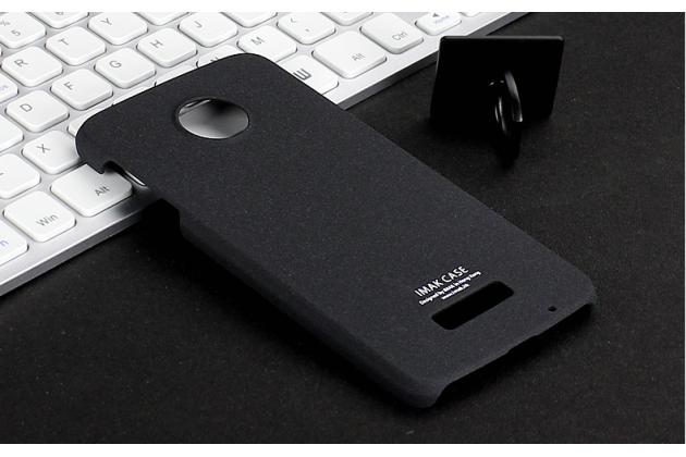 """Фирменная задняя панель-крышка-накладка из тончайшего и прочного пластика для Lenovo Moto Z Play/ Motorola Moto Х Play (XT1635-03) 5.5"""" черная"""