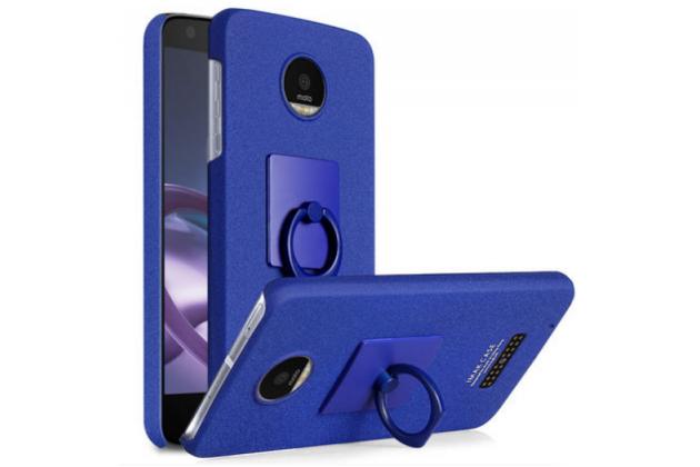 """Фирменная задняя панель-крышка-накладка из тончайшего и прочного пластика для Lenovo Moto Z Play/ Motorola Moto Х Play (XT1635-03) 5.5"""" синяя"""