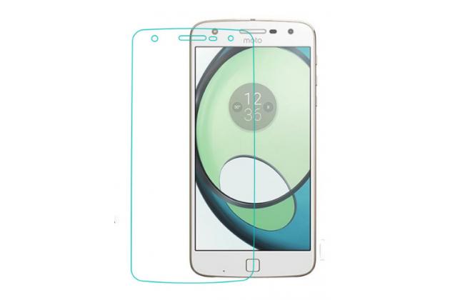 """Фирменное защитное закалённое противоударное стекло премиум-класса из качественного японского материала с олеофобным покрытием для телефона Lenovo Moto Z Play/ Motorola Moto Х Play (XT1635-03) 5.5"""""""