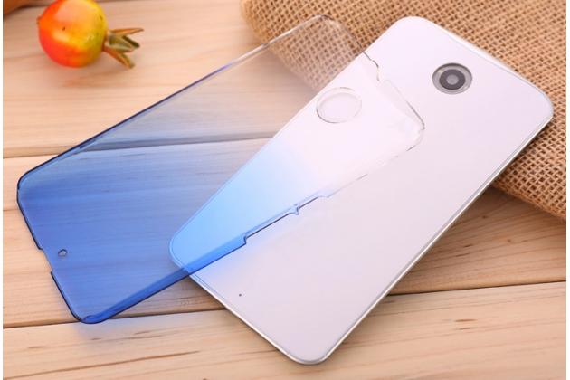 Фирменная из тонкого и лёгкого пластика задняя панель-чехол-накладка для Motorola Nexus 6 прозрачная с эффектом дождя