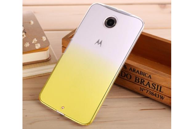 Фирменная из тонкого и лёгкого пластика задняя панель-чехол-накладка для Motorola Nexus 6 прозрачная с эффектом песка
