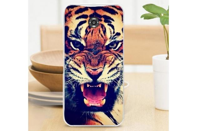 """Фирменная необычная из легчайшего и тончайшего пластика задняя панель-чехол-накладка для Motorola Nexus 6  """"тематика Тигр"""""""
