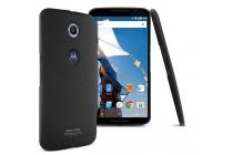 Фирменная задняя панель-крышка-накладка из тончайшего и прочного пластика для Motorola Nexus 6 черная