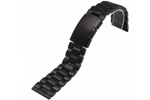 Фирменный сменный металлический ремешок для умных смарт-часов Motorola Moto 360 2 42mm из нержавеющей стали с замком-застежкой