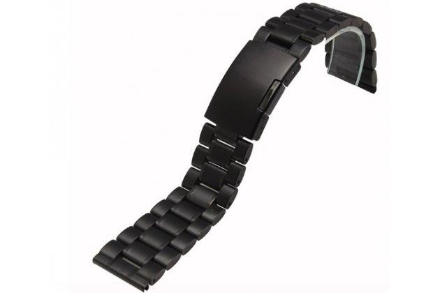 Фирменный сменный металлический ремешок для умных смарт-часов Motorola Moto 360 2 46mm из нержавеющей стали с магнитным замком-застежкой