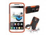 """Противоударный усиленный ударопрочный фирменный чехол-бампер-пенал для  Motorola Moto G4 Plus (XT1642) 5.5"""" оранжевый"""