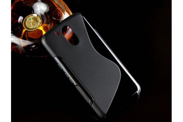 """Фирменная ультра-тонкая силиконовая задняя панель-чехол-накладка для Motorola Moto G4 Plus (XT1642) 5.5"""" черная"""