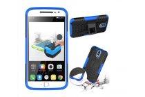 """Противоударный усиленный ударопрочный фирменный чехол-бампер-пенал для Motorola Moto G4 Plus (XT1642) 5.5"""" синий"""
