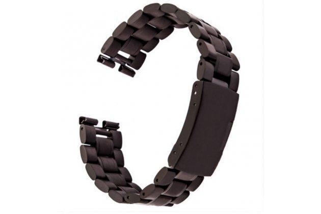 Фирменный сменный стальной ремешок для умных смарт-часов Motorola Moto 360 из нержавеющей стали с инструментами для вскрытия черный