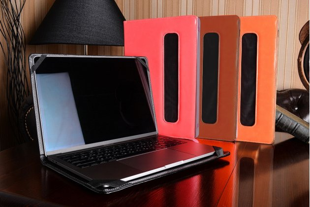 Защитный противоударный чехол-обложка-футляр-кейс для ноутбука LENOVO IDEAPAD G4030 из качественной импортной кожи. Цвет в ассортименте. Только в нашем магазине. Количество ограничено
