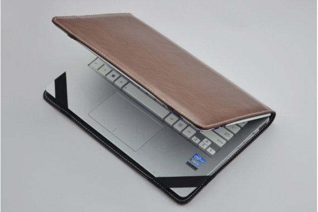 Защитный противоударный чехол-обложка-футляр-кейс для ноутбука LENOVO IDEAPAD Y570S из качественной импортной кожи. Цвет в ассортименте. Только в нашем магазине. Количество ограничено