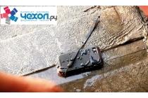 Неубиваемый водостойкий противоударный водонепроницаемый грязестойкий влагозащитный ударопрочный фирменный чехол-бампер для Samsung Galaxy Mega 5.8 GT-i9150/i9152 цельно-металлический со стеклом Gorilla Glass