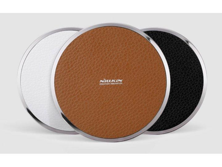 Беспроводная зарядка (QI) на телефон BQ Flash Plus 2 с отделкой под кожу и LED-подсветкой. Продаётся комплекто..
