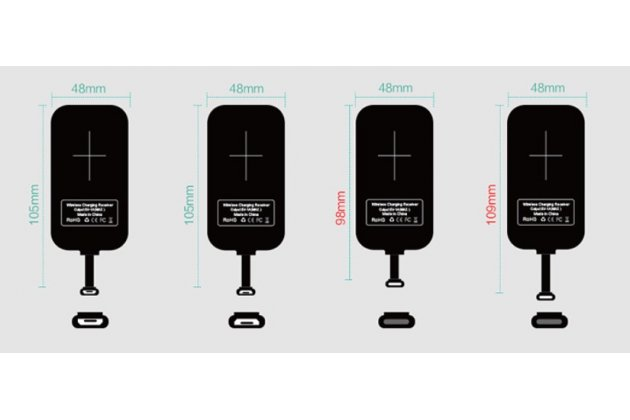 Беспроводная зарядка (QI) на телефон Elephone S2 Plus с отделкой под кожу и LED-подсветкой. Продаётся комплектом (док -станция + ресивер)
