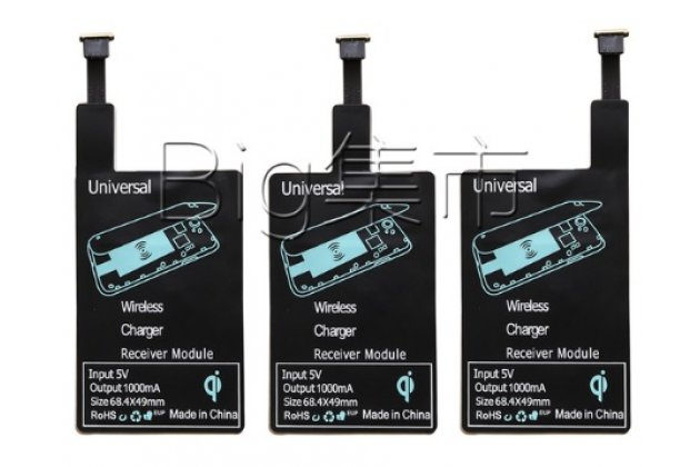 Беспроводная зарядка (QI) на телефон ZTE Blade X3 с отделкой под кожу и LED-подсветкой. Продаётся комплектом (док -станция + ресивер)