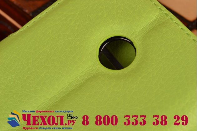 Фирменный чехол-книжка из качественной импортной кожи с мульти-подставкой застёжкой и визитницей для Майкрософт Нокиа Люмия 532 зеленый