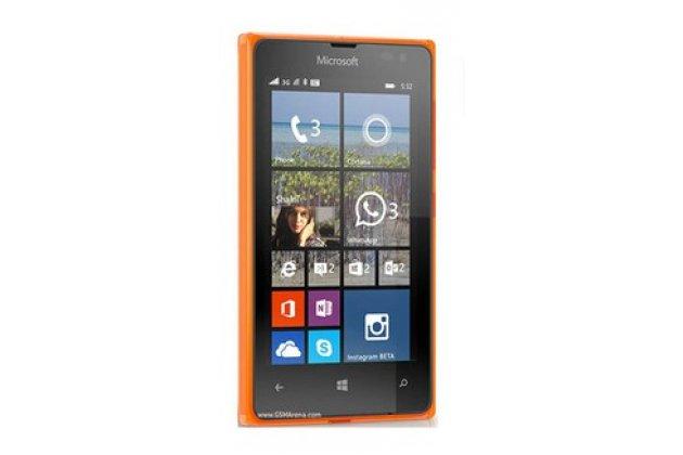 Фирменная оригинальная защитная пленка для телефона Microsoft Lumia 532 глянцевая